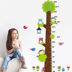 RRRLJL Height Measurement Growth Chart Tree Cute Monkey and