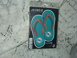 MIAMI DOLPHINS NEW LOGO FLIP FLOP DIE CUT 9 X 4 INCH FOR WIN