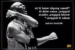 """Some People Want"" Michael Jordan Quotes Poster Print 12 x 1"