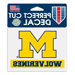 Michigan Wolverines Official NCAA 4 inch x 5 inch decal by W