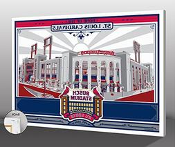 MLB St Louis Cardinals Busch Stadium Canvas Print Sports Pro