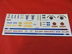 Model Car Parts AMT Police Decal Sheet 1/25