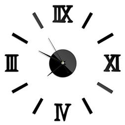 Modern DIY Large Wall Clock Big Watch Decal 3D Stickers Roma