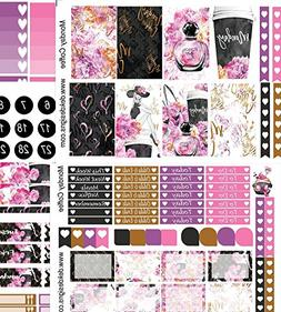 Monday Coffee, planner weekly sticker kit. Sized for Erin Co