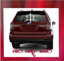 Monogram Vinyl Car,Truck Window Religious Decal Sticker 3 Cr