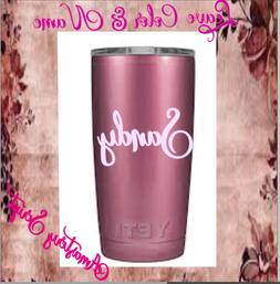 Monogram vinyl decal for Tumblers,Cups Sticker,Personalized