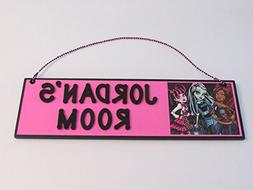 Monster High Room Name Wall Sign - Personalized Monster High