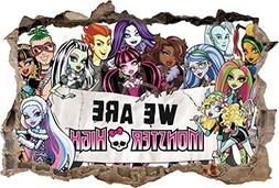 MONSTER HIGH Smashed Wall Decal Removable Wall Sticker Disne