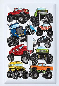 Monster Truck Light Switch Plates Covers Wall Decor / Single