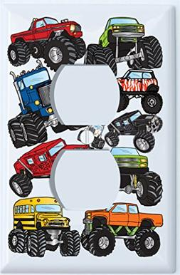Monster Truck Outlet Switch Plates Cover / Outlet Cover Mons