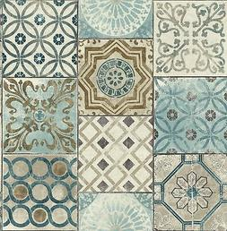 NextWall Moroccan Style Peel and Stick Mosaic Tile Wallpaper