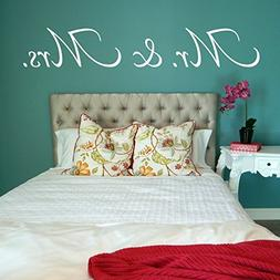 Mr and Mrs Wall Decal, Mr and Mrs Decal, Bedroom Decal, Bedr