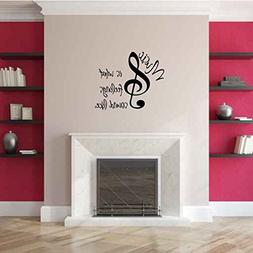 Music is What Feelings Sound Like Vinyl Wall Words Decal Sti