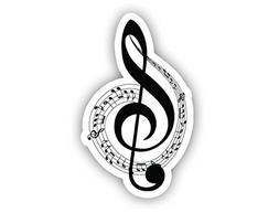 Musical Notes Sticker Car Decal Vinyl Sticker - Vinyl Decal