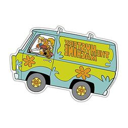 Fan Emblems Mystery Machine Character Car Decal Domed/Multic