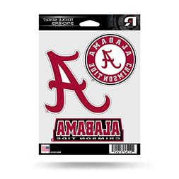 Rico Industries NCAA Alabama Crimson Tide Die Cut 3-Piece Tr