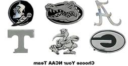 NCAA Premium Solid Metal Chrome Plated Auto Emblem Team Logo