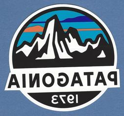 5929239e19972 NEW PATAGONIA 1973 ROUND CLASSIC MOUNTAINS STICKER DECAL 3 1. 4