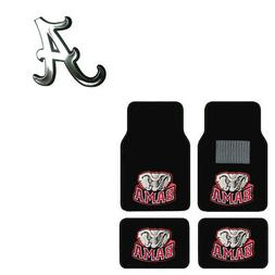 New 5pc NCAA Alabama Crimson Tide Car Truck Floor Mats & Chr