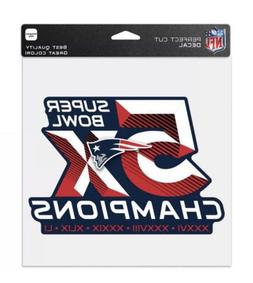 "NEW ENGLAND PATRIOTS 5X CHAMPIONS 8""X8"" COLOR DIE CUT DECAL"