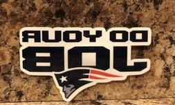 New England Patriots Logo Car Sticker NFL Decal Tom Brady Fo
