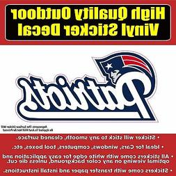 New England Patriots Vinyl Car Window Laptop Bumper Sticker