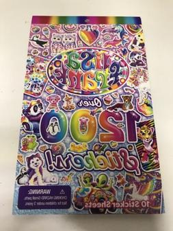 NEW LISA FRANK OVER 1200 STICKER COLLECTION 10 SHEETS RAINBO