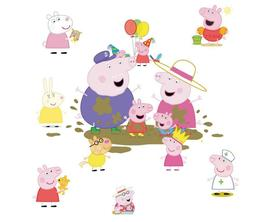 NEW Peppa Pig Wall Paper Removable Wall Stickers Decal Kids