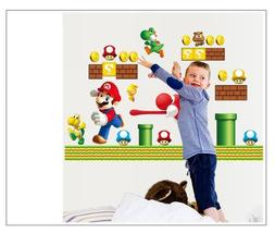 NEW Super Mario Bros Yoshi Removable Wall Stickers Decal Kid