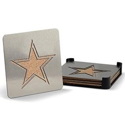 NFL Dallas Cowboys Boasters, Heavy Duty Stainless Steel Coas