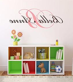 """Nursery Custom Name and Initial Wall Decal Sticker 28"""" W by"""