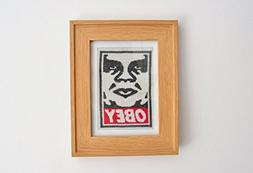Obey - Cross Stitch in Frame