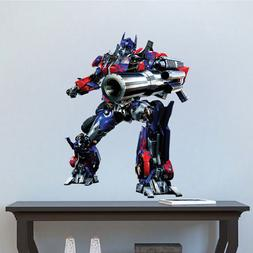 Optimus Prime Fighting Wall Decal Mural and Transformers Wal