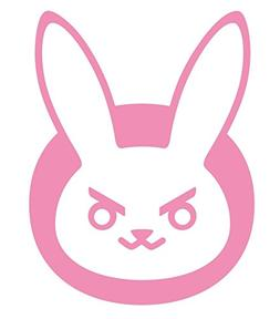 OVERWATCH VIDEO GAME D-VA BUNNY LOGO VINYL STICKERS SYMBOL 5