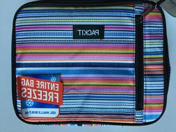 Packit Freezable Classic Lunch Box Black or Stripes  Built I