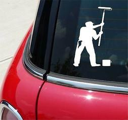Painter Painting Roller Graphic Decal Sticker Car Vinyl