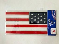 Patriotic American flag Window Gel Stickers Clings 4th of Ju