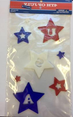 Patriotic USA w stars  Window Gel Sticker Cling classroom  t