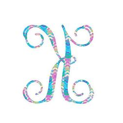 Pattern Letter K Vinyl Pattern Monogram Decal for Cup, Tumbl