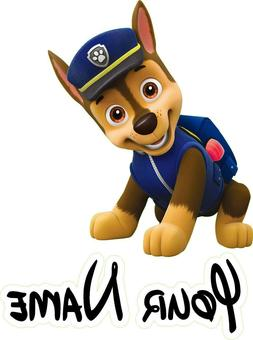 Paw Patrol, Chase Window View Color 3D Wall Sticker Wall Mur