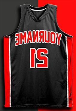 PERSONALIZED Basketball Jersey 13x19 POSTER Black & Red YOUR
