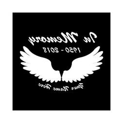 Express Design Group Personalized in Memory of Angel Wings D
