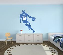 Personalized Name Basketball Player Wall Decal - Boy Girl Un