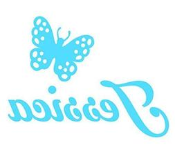 Personalized Name Butterfly Decal Sticker, Gloss Vinyl Decor
