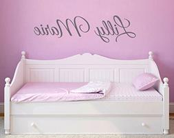Personalized Script Font Name decal Removable Vinyl Wall Dec