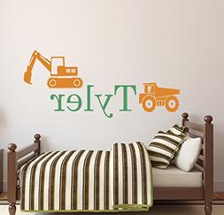Personalized Truck Name Wall Decal - Boys Name Wall Decal -