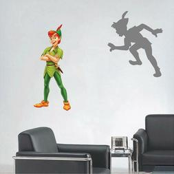 Peter Pan and Shadow Neverland Window View Decal WALL STICKE