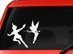 Peter Pan and Tinkerbell children cartoon silhouette car tru