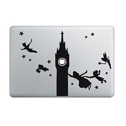 Peter Pan Disney Clock Tower Vinyl Decal Sticker for Macbook