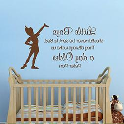 MairGwall Peter Pan Quote -They Always Wake up a Day Older-
